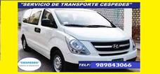 Transporte Turistico Cespedes-minivan H1-excursiones