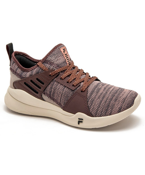 Zapatillas Fila Essential Lifestyle Mujer Vino Original