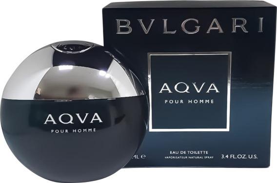 Perfume Bulgari Aqva 100ml Edt Masculino + Brinde Amostra