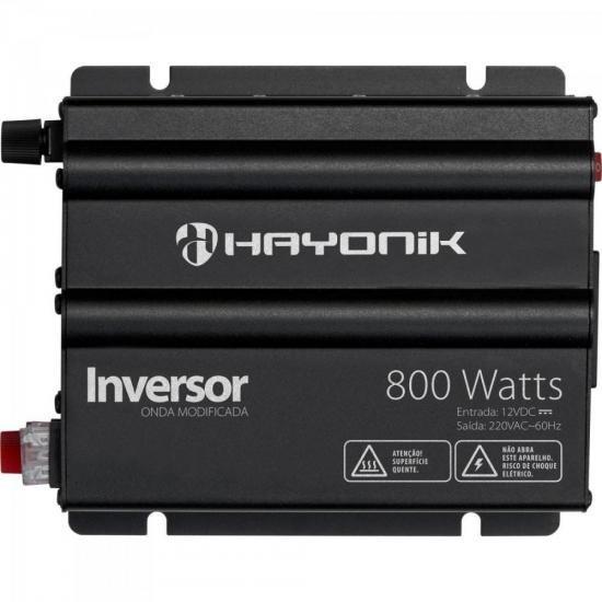 Inversor 800w 12vdc/220v Onda Modificada Cinza Escuro Hayoni