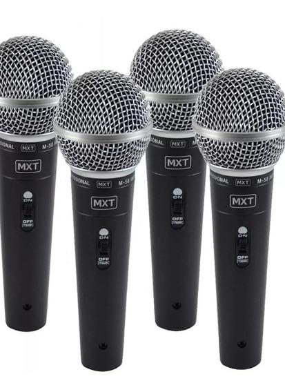 4 Microfones M-58