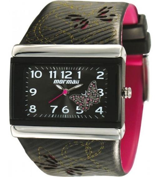 Relógio Mormaii Preto Usado Pulseira Frete Grátis!!!