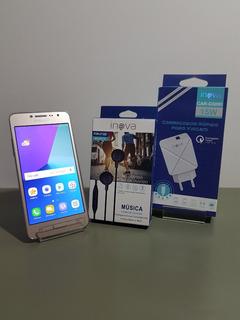 Samsung Galaxy J2 Prime Novo Com Carregador Turbo E Fone