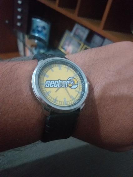 Relógio Sector 9 Quartz 24h Lindo Amarelo Promoção De Evento