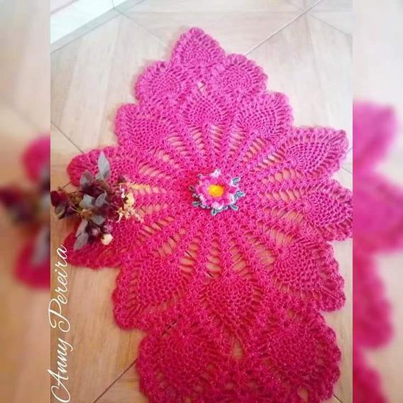 Tapete Em Croche Rosa Tiffany
