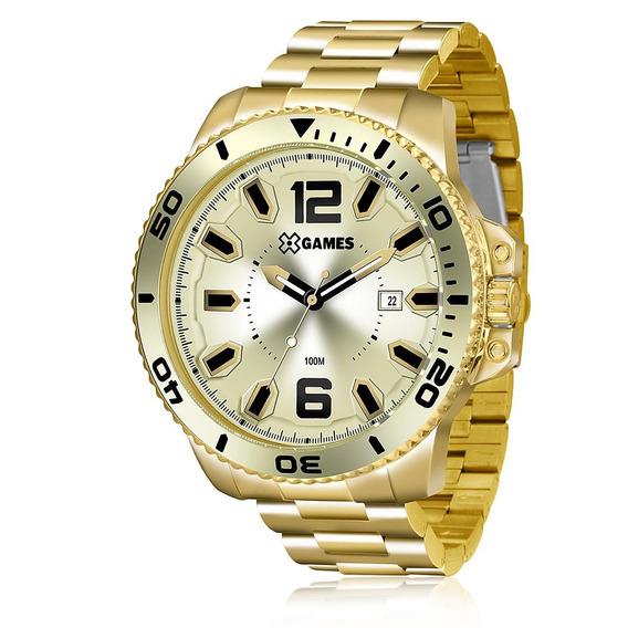 Relógio X-games Masculino Xmgs1019 Dourado