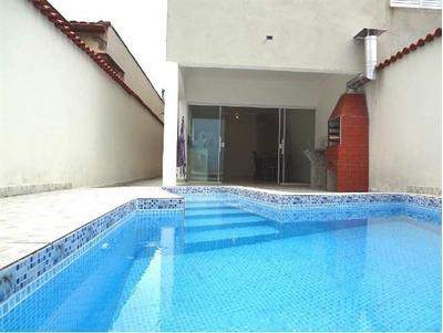 Casa Na Praia, 3 Dormitórios, Com Piscina, Mongaguá, C4603