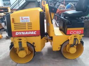 Rolo Compactador Dynapac Cc92, Diesel, Vibratório, Liso