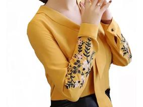 Blusa Camisa Moda Feminina Social Manga Longa Luxo