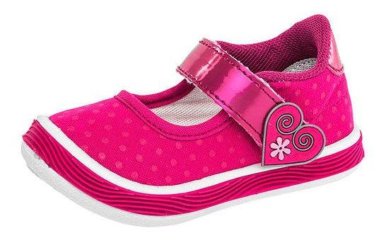 Kids Vane Sneaker Urbano Fucsia Textil Corazon Niña Bta72767