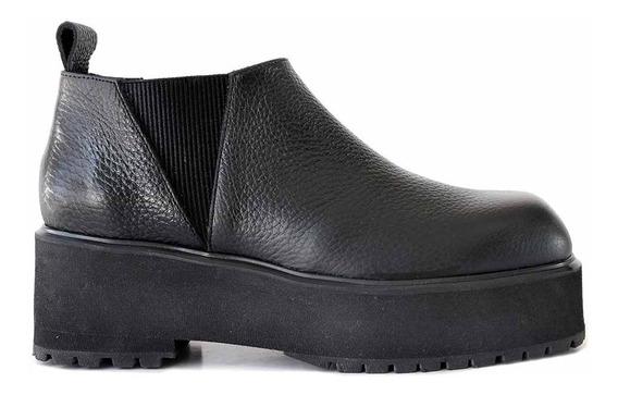 Bota Cuero Mujer Briganti Zapato Plataforma Goma - Mcbo24932