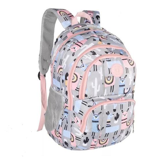 Mochila Espalda Nena Escolar Unicornio Trendy Original