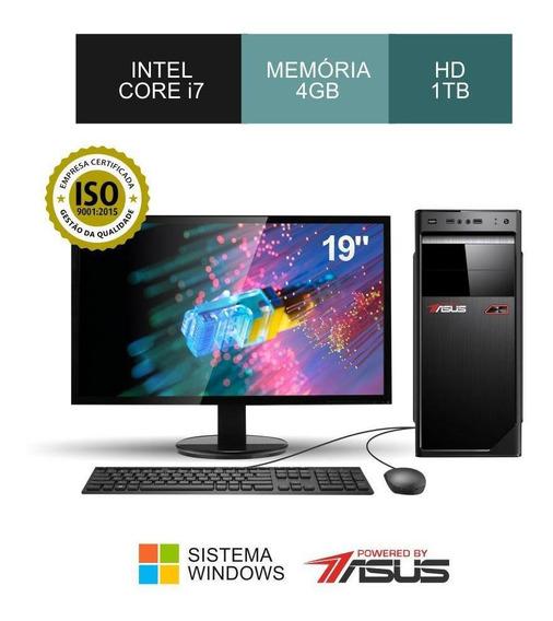 Cpu Asus I7 3.40ghz Ram 4gb Hd 1tb+monitor 19+teclado/mouse