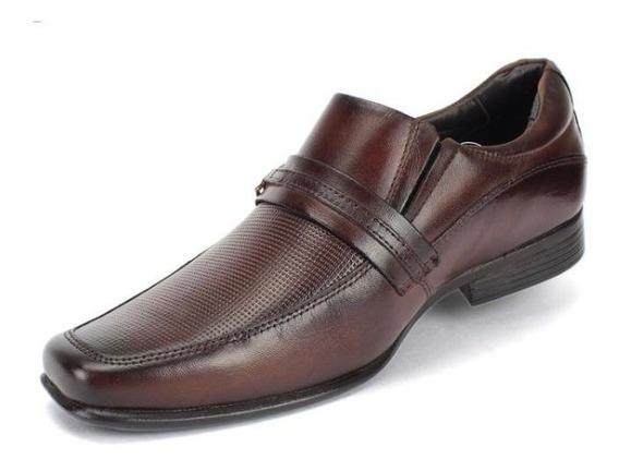 Sapato Social Masculino Rafarillo Marrom Couro Promocao