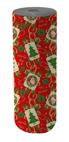 Bobina Papel De Regalo Muresco Navidad 60cm X 200mt