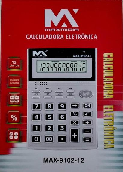 Calculadora Eletrônica 12dig Detc Nota Falsa 5 Unidades