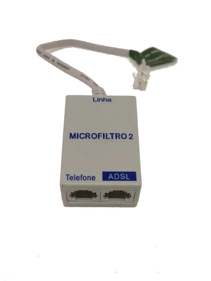 Kit 5 Filtro Adsl Telefone E Modem Internet Duplo