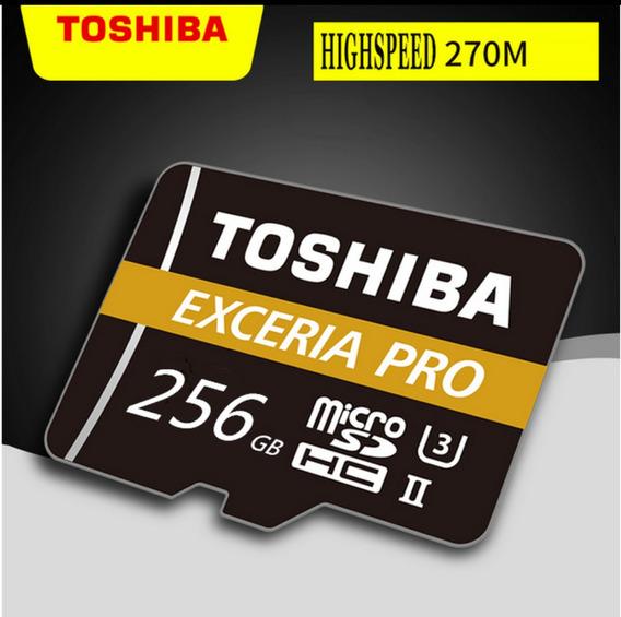 Cartão De Memória Toshiba Execeria Pro 256gb + Brinde