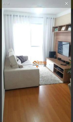 Apartamento Com 2 Dormitórios À Venda, 54 M² Por R$ 249.000,00 - Picanco - Guarulhos/sp - Ap2747