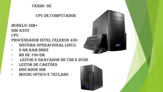 Desktop Positivo Sim+ A355, Teclado E Mouse Óptico