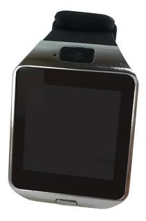 Smartwatch Relógio Prata Celular Inteligente 0090 Quadrado