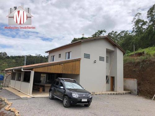 Linda Chácara Com 04 Dormitórios, Excelente Localização, Bairro Povoado, Linda Vista À Venda, 700 M² Por R$ 295.000 - Pedra Bela/sp - Ch0863