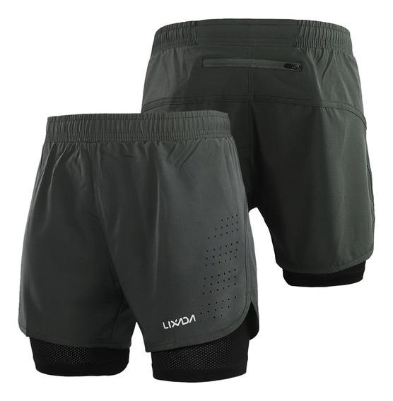 Lixada Shorts De Running 2 En 1 Para Hombre Secado Rápido Tr