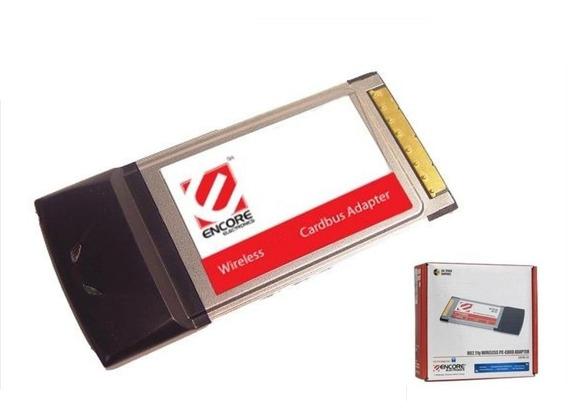 Placa Pcmcia Wifi Wireless Encore 802.11g 2.4 Ghz Cardbus