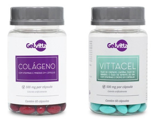 Combo Colágeno Hidrolisado Cápsula + Vittacel Termogênico
