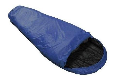 Saco De Dormir Ntk Micron X-lite 5ºc À 8ºc - Azul E Preto