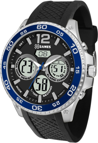 Relógio X Games Masculino Xmspa023 Pdpx Anadigi Azul