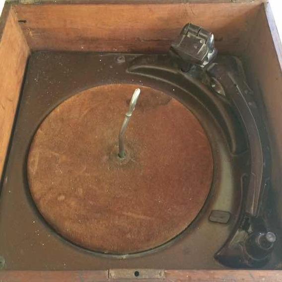Vitrola Antiga Webster Caixa De Madeira P/ Restauro / Decor