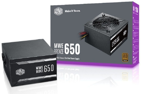 Fonte Mwe 650w - 80 Plus Bronze - Mpx-6501-acaab-wo (cooler