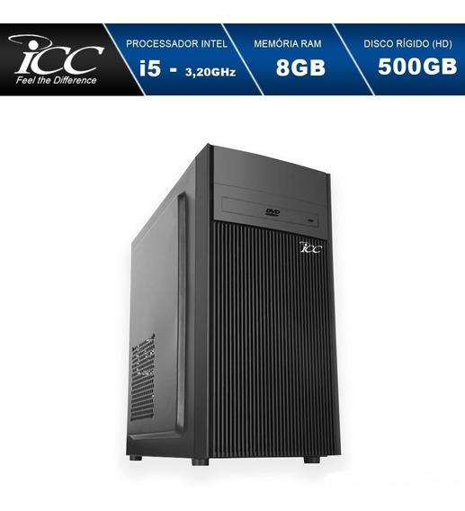 Computador Intel Core I5 8gb Hd 500gb C/dvdrw Windows 10