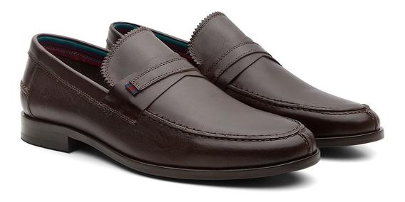 Sapato Mocassim Masculino Osbo Confortável Em Couro