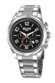 Relógio Masculino Seculus 28958g0svna2 Promoção Dia Dos Pais