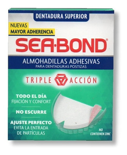 Almohadillas Dentadura Postiza Superior Adhesivas Sea Bond