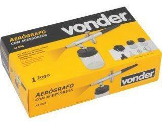 Aerógrafo Com Acessórios Aj 008 Vonder