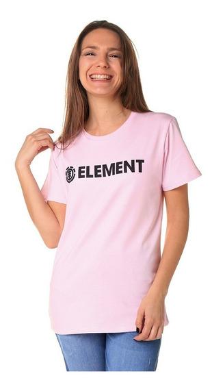 Remera M/c Element Logo Tee Rosa Mujer Jeremele