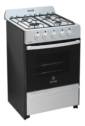 Imagen 1 de 10 de Cocina Escorial Master 56 Cm Blanca Multigas Doble Vidrio