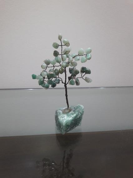Arvore De Cristal Pedras Roladas E Base Em Quartzo Verde