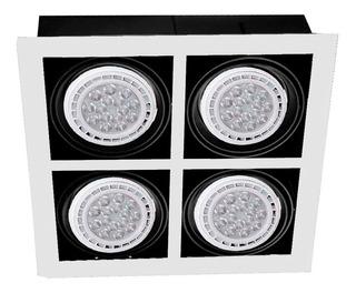 Panel Ar111 4 Luces Cardanico Techo Moderno Blanco Cocina