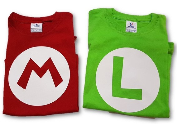 Playeras Mario O Luigi Infantil Desde 1 Año Algodon Sua