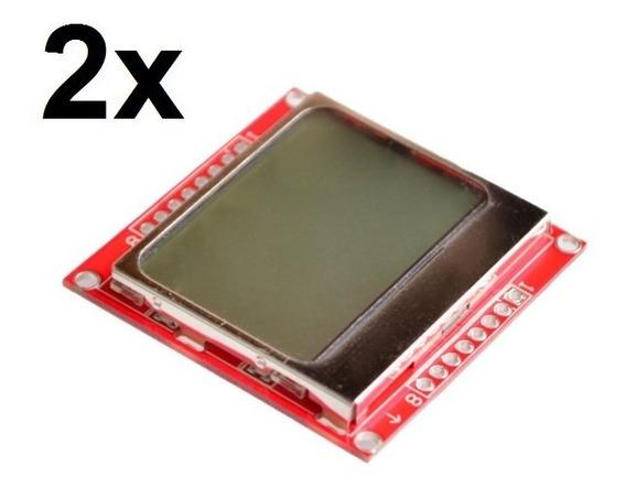2x Display Lcd Nokia 5110 Para Arduino E Outros!!!