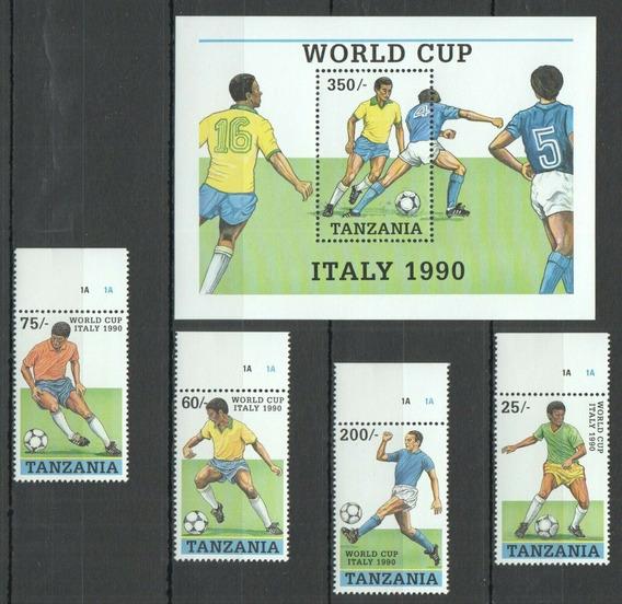 1990 Deportes- Mundial Fútbol Italia - Tanzania Mnh
