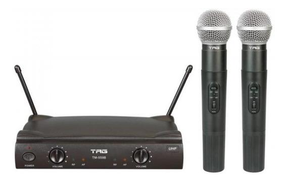 Microfone Sem Fio Duplo Tagsound Tm 559b - Uso Contínuo De
