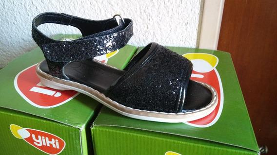 Sandalia Nena Glitter Negro