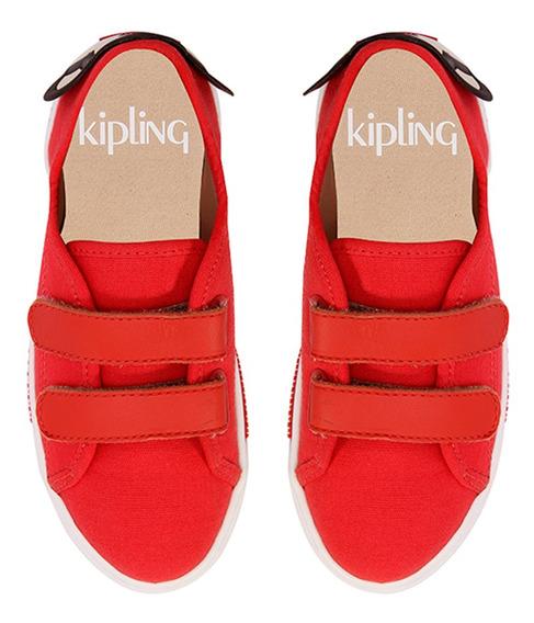 Tênis Infantil Velcro Macaco Vermelho Kipling