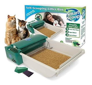 Smartscoop Basic Green Self-scooping Cat Litter Box, 25.5 L
