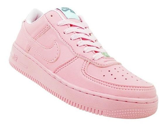 Kit Tênis Feminino Nike Air Force 1 Rosa 5 Pecas